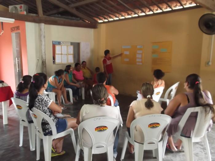 Apresentação dos trabalhos em grupos - Apanha Peixe em Caraúbas