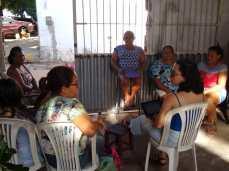 Reunião na Associação Comunitária das Artesãs do Planalto no dia 7-11-2019. Participaram 9 mulheres.