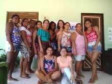 Reunião na Comunidade Matas, Ceará Mirim, no dia 9-11. Na reunião participaram 10 mulheres.